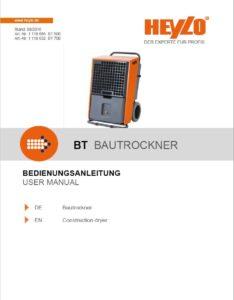 Betriebsanleitung Bautrockner HEYLO downloaden - Mietpark Fischer GbR - Aspach und Backnang