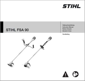 Bedienungsanleitung Motorsense Rasentrimmer mieten - FSA90 STIHL