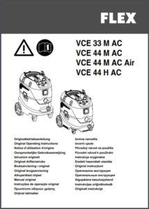 Betriebsanleitung Industriestaubsauger FLEX VCE-44AC-