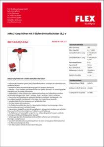FLEX Rührgerät mieten - Datenblatt und Betriebanleitung herunterladen