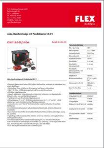 FLEX Handkreissäge CS62 Datenblatt herunterladen - Mietpark Fischer in Aspach und Backnang