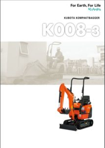 KUBOTA Minibagger K 008-3 mieten bei Mietpark Fischer Backnang und Aspach