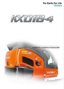 KUBOTA Minibagger KX 018-4 Bedienungsanleitung