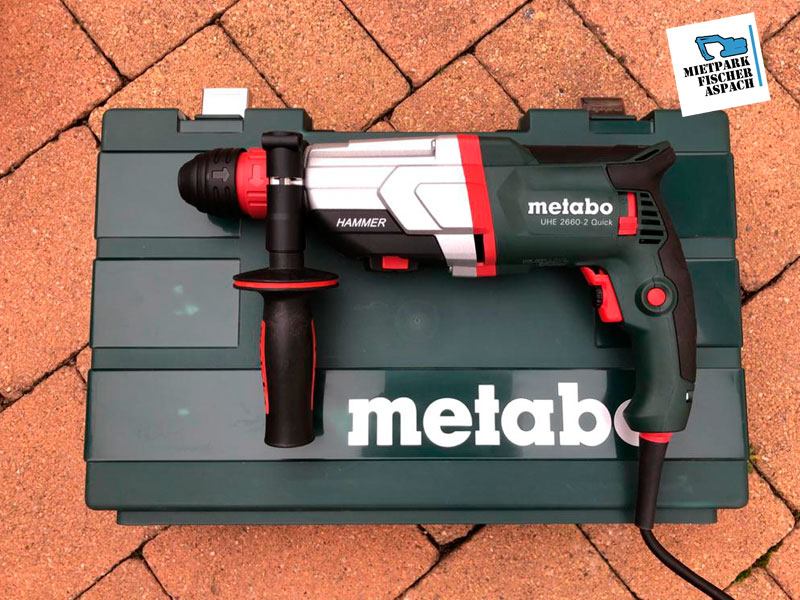 Multihammer Schlagbohrmaschine Bohrhammer mieten - METABO UHE 2660-2 Quick
