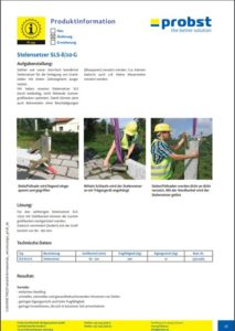 PROBST Stelengreifer - Datenblatt