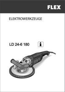 Sanierungsschleifer FLEX LD 24-6 Bedienungsanleitung herunterladen