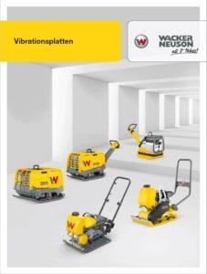 WACKER NEUSON Rüttelplatte VP1135 - Broschüre Rüttelplatten herunterladen