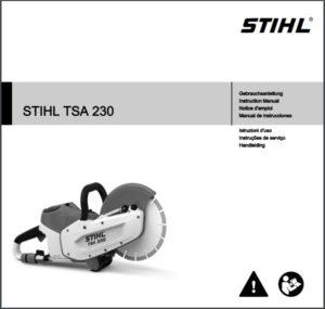 Gebrauchsanweisung Trennschleifer STIHL TSA 230 downloaden