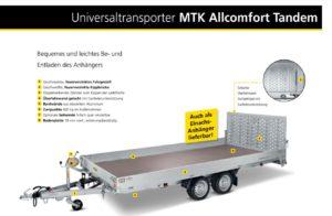 Datenblatt zum Autotransportanhänger herunterladen - Mietpark Fischer Aspach